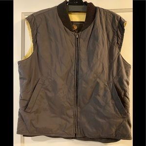 Loro Piana medium brown quilted vest